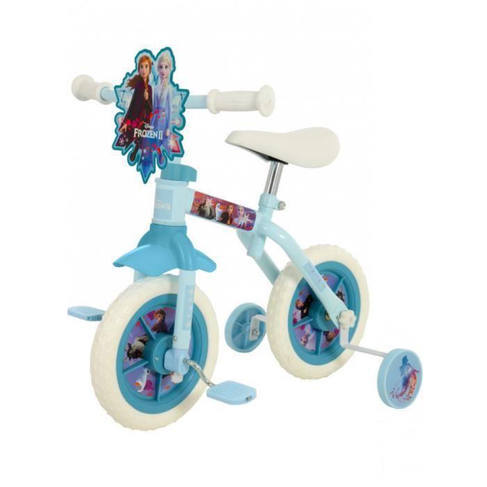 Disney La Reine des Neiges 2 Vélo d'entraînement 10 Pouce 2 en 1