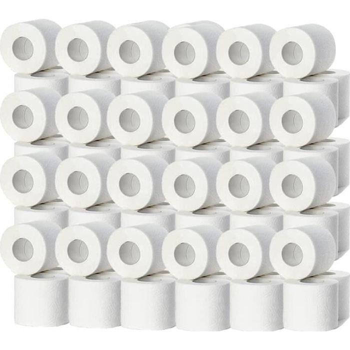 Lot de 48 Rouleaux de papier hygiénique 2 plis usage domestique ou industriel