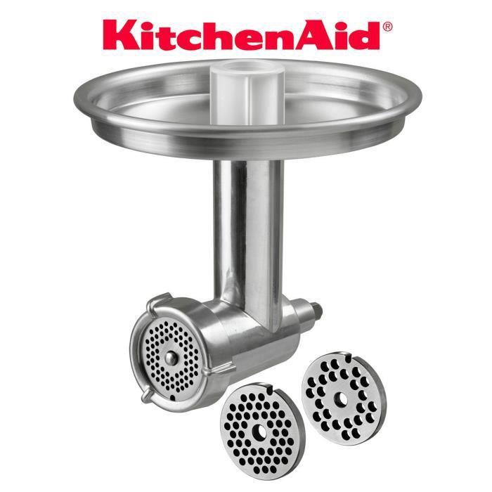 Hache-viande Alu 3 grilles Kitchen Aid