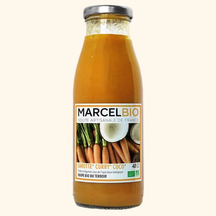 MARCEL BIO - Soupe de Carotte Curry & Coco Bio 48cl