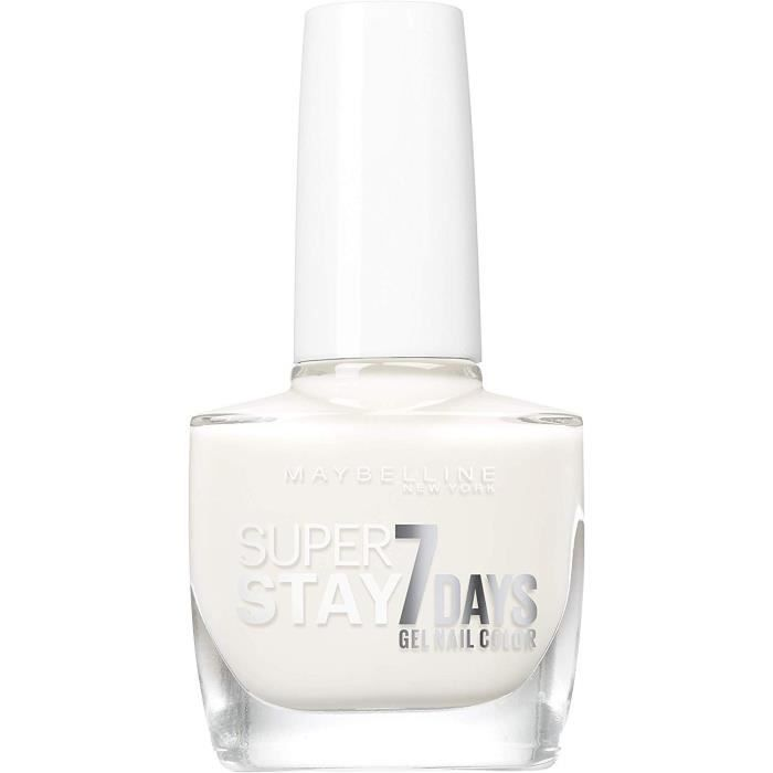 71 Pure White - Vernis à Ongles Strong & Pro / SuperStay Gemey Maybelline