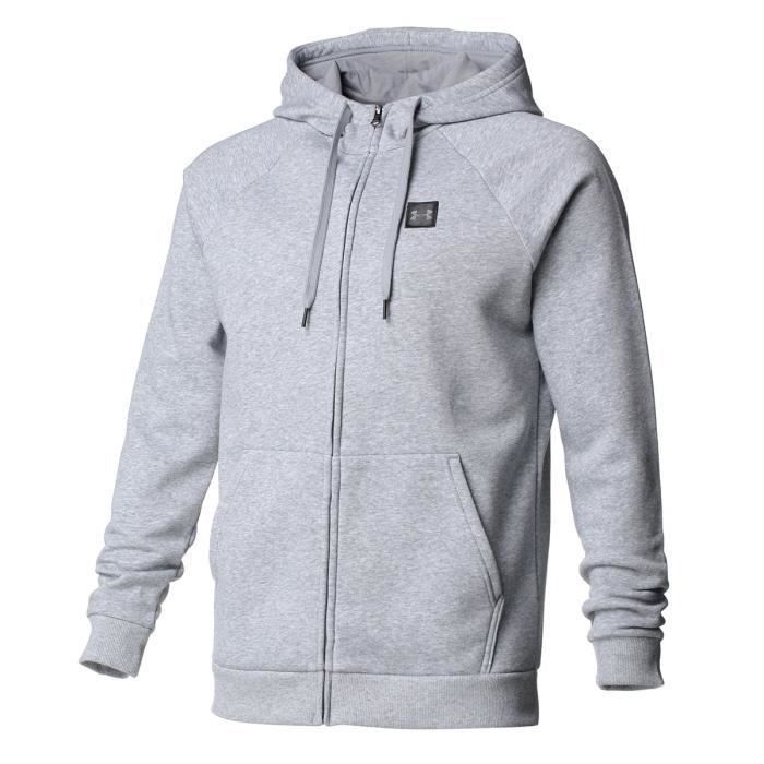 UNDER ARMOUR Sweat Rival Fleece FZ Hoody - Homme - Gris