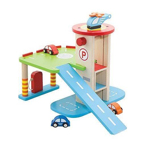 New Classic Toys - 1016 - Jouet De Premier Age - Parking À Voitures Avec etage Et Ascenseur