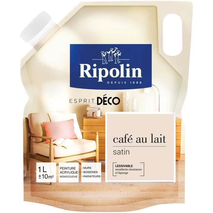 Rip deco multi supports satin 1l café au lait