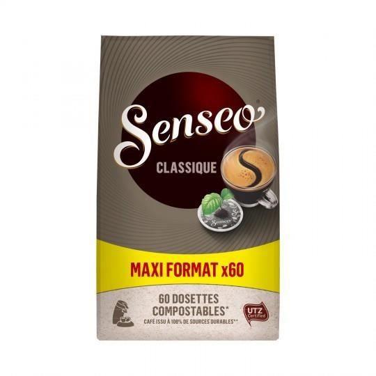 LOT DE 5 - SENSEO Classique Café dosettes - le sachet de 60 - 416g