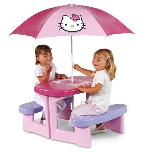 HELLO KITTY Table Pic Nic + Parasol