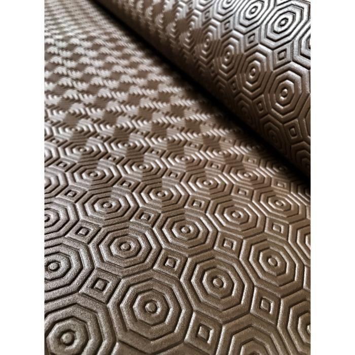 Sous Nappe PVC Chocolat effet bulgomme – Rect 140 x 260 cm - Largeur 140 cm - Roulé sur Tube en Carton (sans Plis)