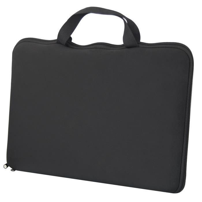 TRIXES Housse noire stylée pour ordinateur portable slim 15,6- Dell, Sony, HP