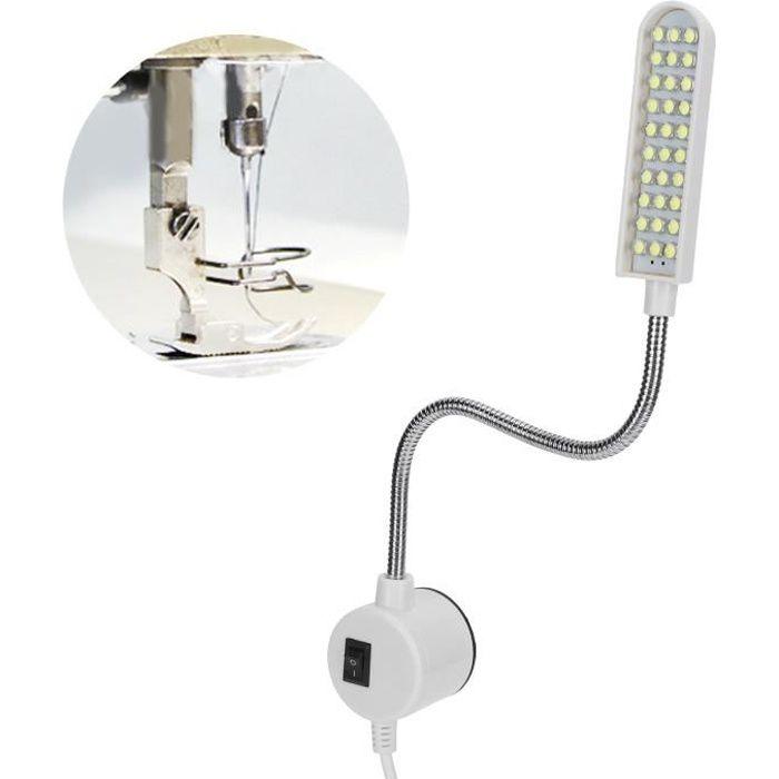 Lampe de travail pour machine à coudre, prise EU AC110-250V lampe à LED pour machine à coudre 6000K 2 W TU010