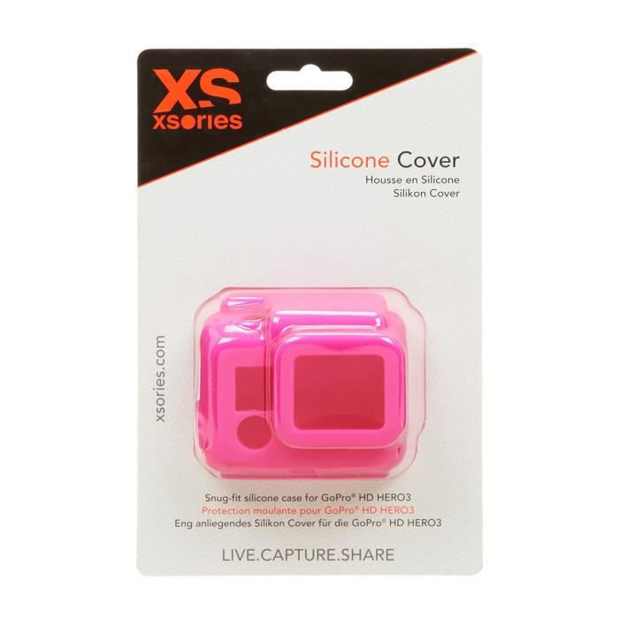 XSORIES Housse en Silicone pour GoPro HD HERO3 - Rose