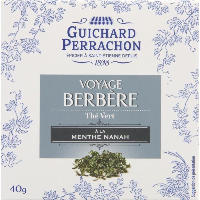 GUICHARD PERRACHON Thé vert menthe - 20 sachets - 40 g