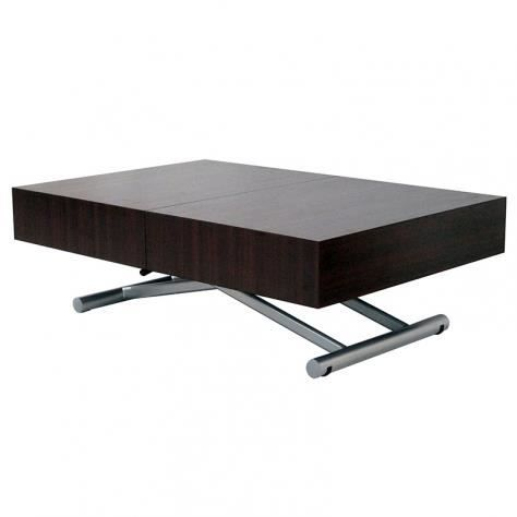Table basse fany xxl relevable extensible wenge achat for Table basse relevable occasion