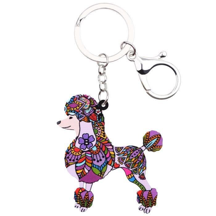 Porte-cl/és en /étain avec m/édaillon motif chien taille 3/cm x 3/cm