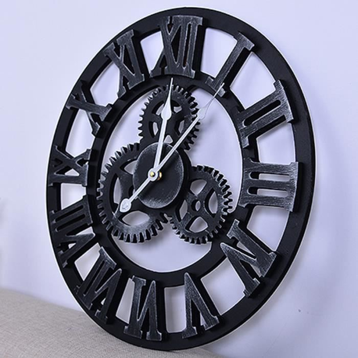horloge murale engrenages achat vente pas cher. Black Bedroom Furniture Sets. Home Design Ideas
