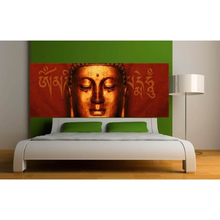stickers t te de lit d co bouddha dimensions achat vente stickers cdiscount. Black Bedroom Furniture Sets. Home Design Ideas