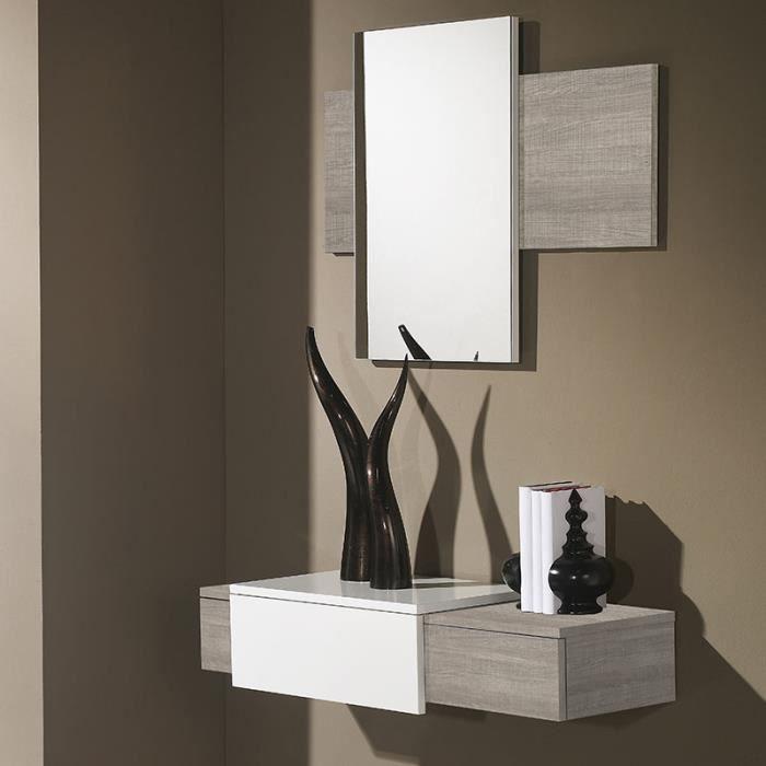 Petit couleur blanc entrée et bois clair moderne meuble hrtsdCQ