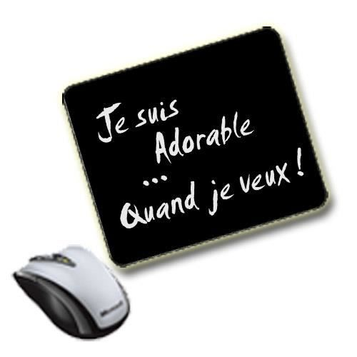 tapis de souris humour prix pas cher cdiscount. Black Bedroom Furniture Sets. Home Design Ideas