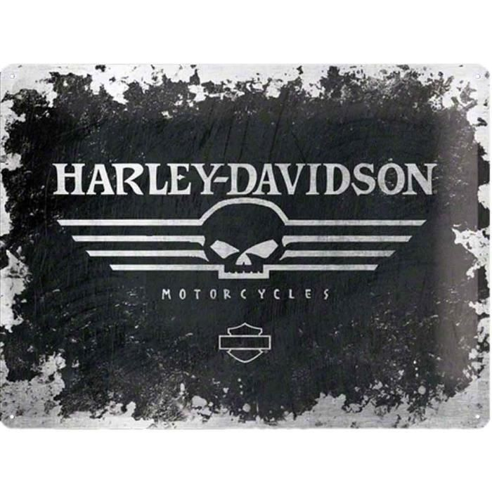 plaque metal harley davidson skull achat vente affiche m tal cdiscount. Black Bedroom Furniture Sets. Home Design Ideas