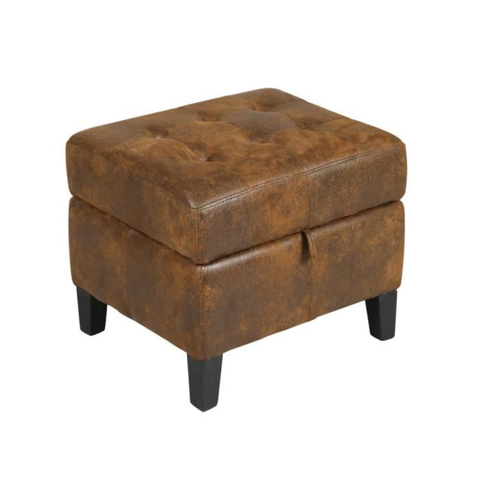 coffre pouf marron structure en bois achat vente pouf poire cdiscount. Black Bedroom Furniture Sets. Home Design Ideas