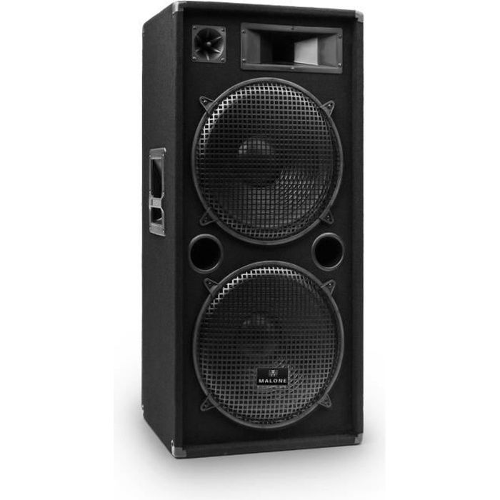 malone enceinte sono passive pour pa ou dj 2 subwoofers de 38cm 15 1500w max enceinte. Black Bedroom Furniture Sets. Home Design Ideas