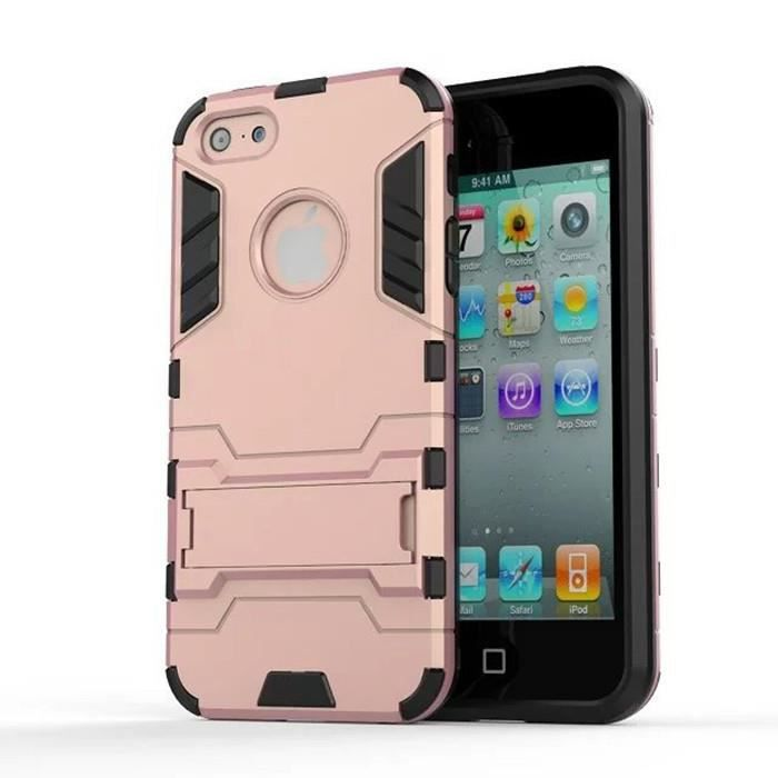 coque support en forme d 39 armure pour iphone 5 5s 5se rose. Black Bedroom Furniture Sets. Home Design Ideas