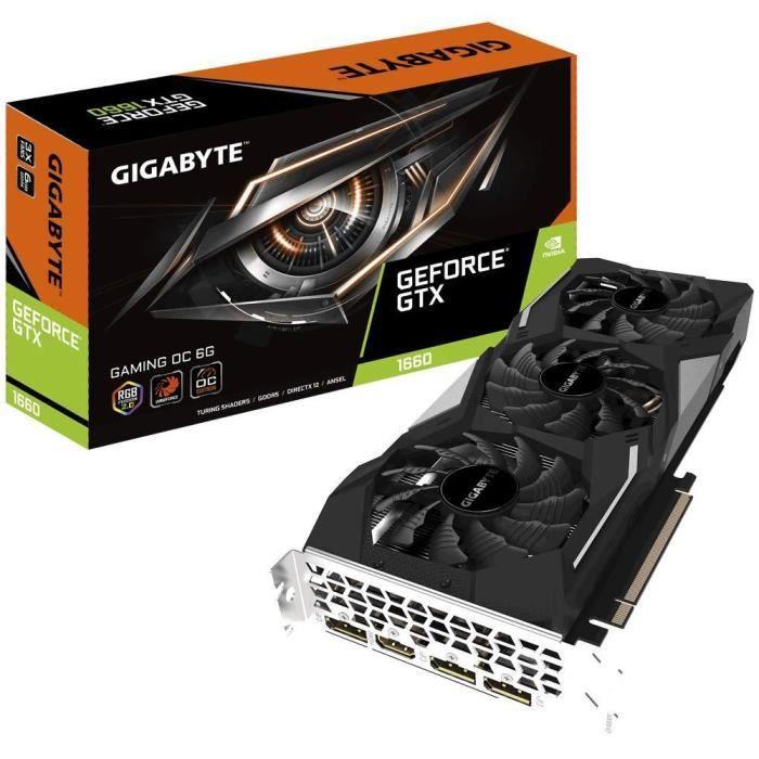 CARTE GRAPHIQUE INTERNE Gigabyte GeForce GTX 1660 Gaming OC 6G