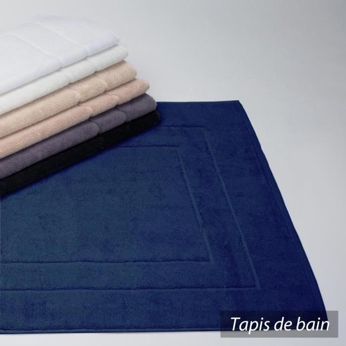 tapis de bain 60x100 cm flair bleu marine 1500 achat vente tapis de bain cdiscount. Black Bedroom Furniture Sets. Home Design Ideas
