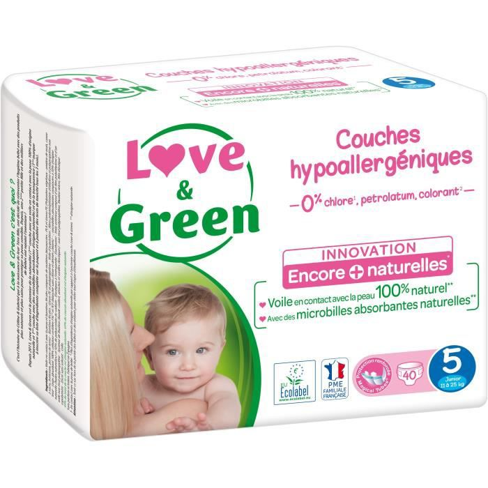 COUCHE Love & Green – Couches écologiques Taille 5 (11 à