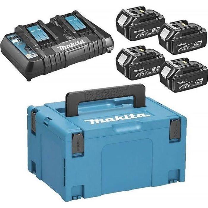 BATTERIE MACHINE OUTIL MAKITA Pack energie 18 V Li-ion - 4 batteries (5Ah