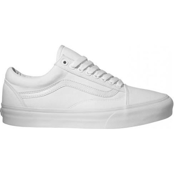 basket vans old skool white blanc blanc blanc achat vente basket cdiscount. Black Bedroom Furniture Sets. Home Design Ideas