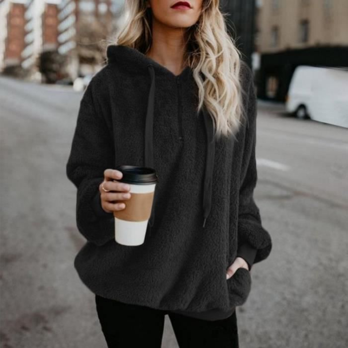 sweat shirt capuche femme