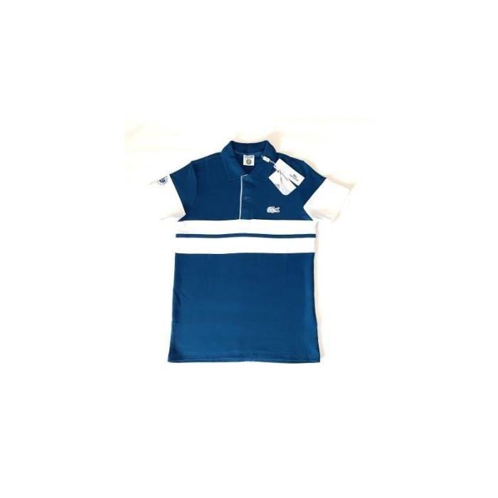 ROLAND GARROS Polo sans Manches avec Logo Finitions de Couleur pour Femme
