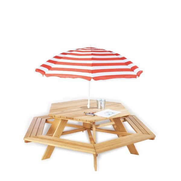 table picnic lilli hexagonale pour 6 enfants ch n prix pas cher cdiscount. Black Bedroom Furniture Sets. Home Design Ideas