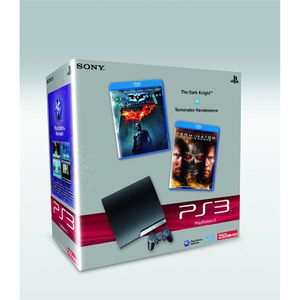 CONSOLE PS3 Pack CONSOLE SONY PS3 Slim 250 GB/GO + 2 Blu Ray