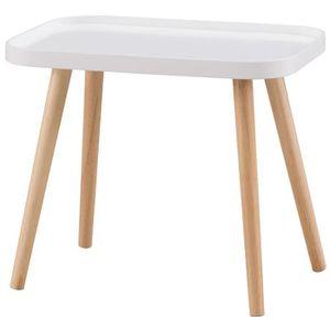 BOUT DE CANAPÉ GALET Table basse style contemporain blanc laqué m