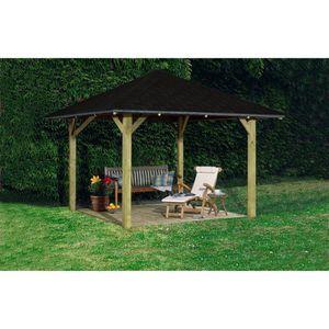 ABRI JARDIN - CHALET BERGEN 1 Pavillon de jardin pin - 338x338 cm