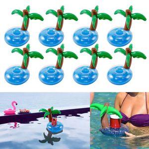 Flamingo flottant gonflable boisson COKE bière 4 peut porte-gobelet piscine