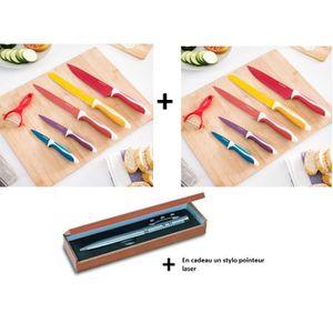 6 couteaux office ceramique et inox ultra coupant poele table pradel schumann 87