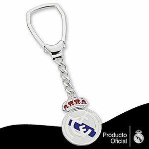 Porte-clés Porsche écusson blanc argent