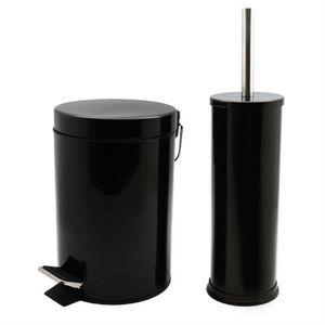 POUBELLE - CORBEILLE Poubelle de salle de bain à pédale - avec brosse p