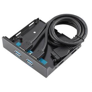 HUB Super Speed USB 3,0 3,5 pouces panneau avant avec