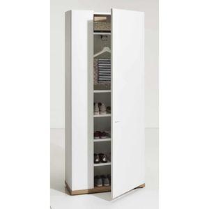 ARMOIRE DE CHAMBRE Armoire à Chaussures 6 étages Blanc Lucide et Base