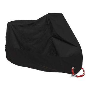 Surepromise Housse de Protection pour Moto /étanche et Anti-UV pour ext/érieur et int/érieur avec Sac de Rangement Noir