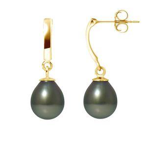 Boucle d'oreille PERLINEA Boucles d'Oreilles Pendantes Perles de Ta