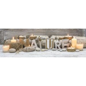 Toile lumineuse led nature 140x45 cm beige achat vente tableau toile to - Toile imprimee nature ...