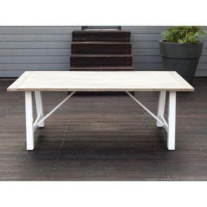 Table de jardin en aluminium OCEAN - Achat / Vente table de ...