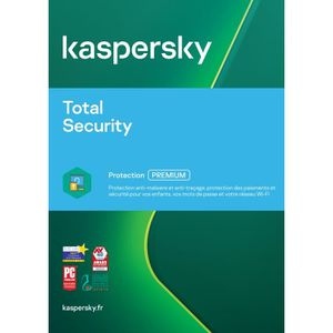ANTIVIRUS Kaspersky Total Security 2018 2 Postes - 1 An -