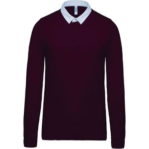 POLO Polo homme rugby - manches longues - K213 - rouge