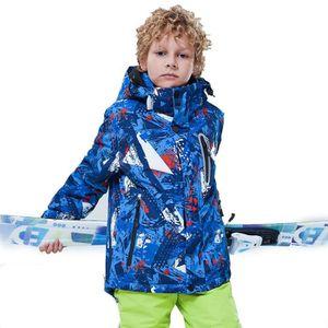 BLOUSON DE SKI Blouson de ski garçon Chapeau détachable imperméab