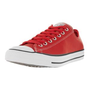 chaussures converse cuir rouge